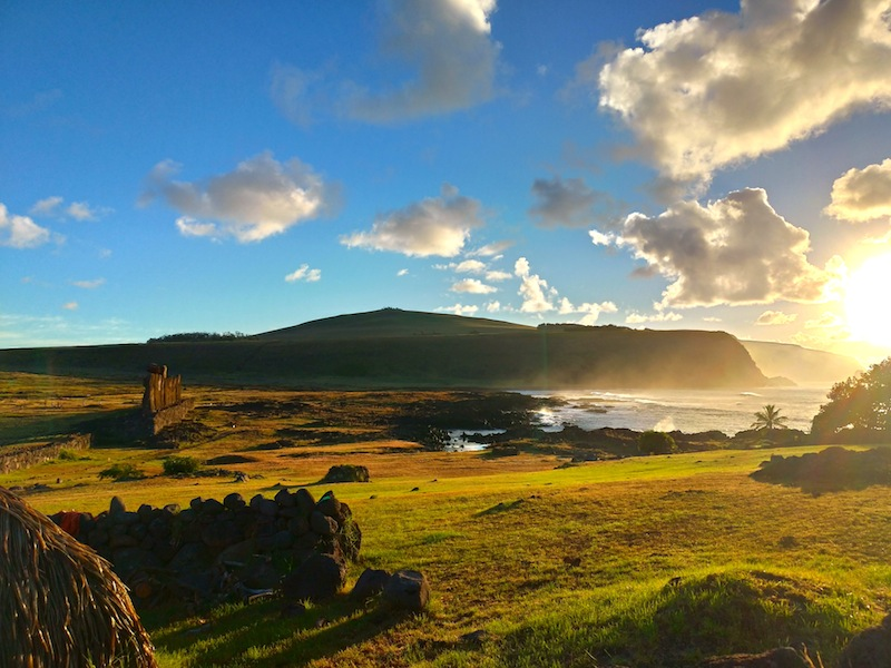 【世界一周】イースター島のサンライズモアイとサンセットモアイ