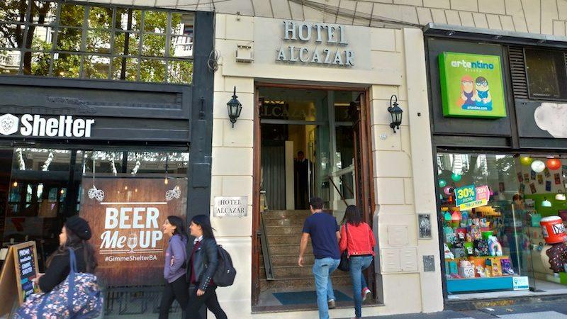 【世界一周】ブエノスアイレスの安ホテル「Hotel Alcazar」