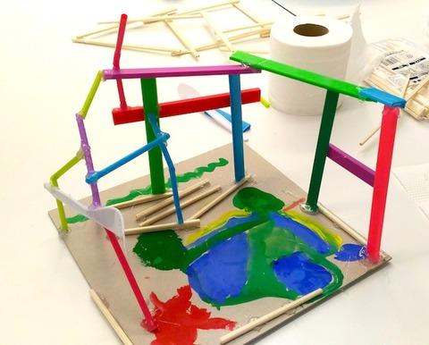 「トモ先生の絵画造形教室@バンコク」今さらですが冬休みのクラス作品紹介