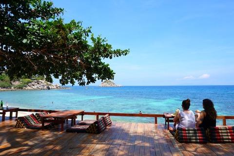 <タオ島旅行2016春その10>サイデンビーチでランチ〜♪「コーラル・ビュー・ダイブ・リゾート/Coral View Dive Resort」