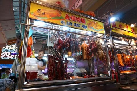 <シンガポール旅行その7>市場内の美味チャーシュー「Nee Soon Roast Pork/義順燒腊」!