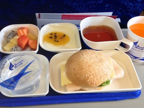 <バンコクエアウェイズ機内食>PG351/BKK-UTH/バンコク-ウドンターニー