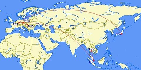 <中欧3カ国周遊その1>旅行スケジュール・旅行ルート