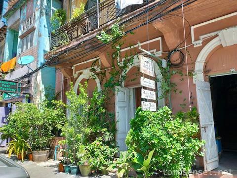 【ミャンマー】ヤンゴンのくつろぎ系ギャラリーレストラン「パンスリヤ/Pansuriya」
