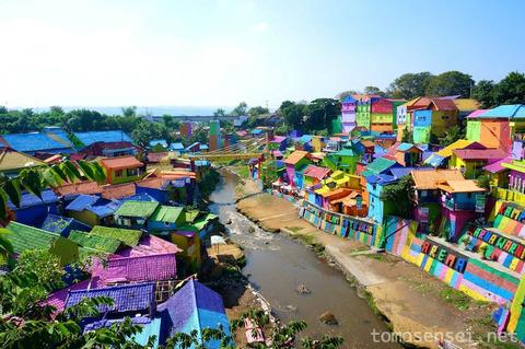 【ジャワ島】06_世界一カラフルな村!地域おこしが大成功「Kampung Warna Warni」
