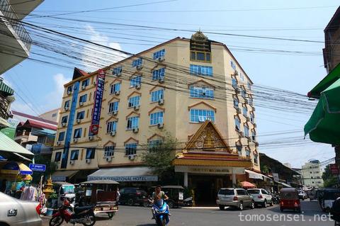 【カンボジア】02_プノンペンのコテコテ中級ホテル「Angkor International Hotel」