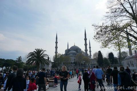 【トルコ旅行 Day6-6】イスタンブールの世界遺産地区をお散歩② ブルーモスクと地下宮殿