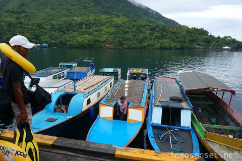【インドネシア】10_バンダネイラからハッタ島へシュノーケリングしながら移動するよ