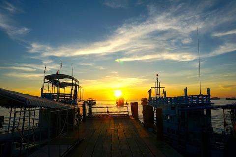 <タオ島旅行2016春その6>メーハート港のサンセット〜♪